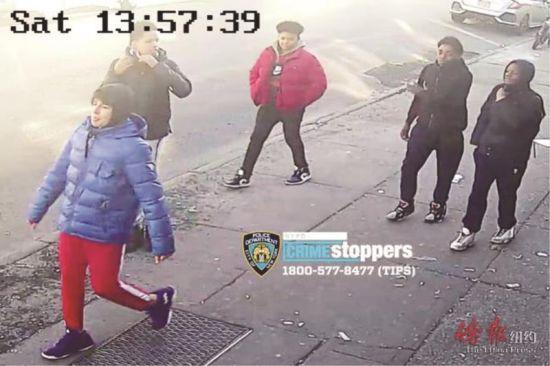 61分局通缉的五名少年持刀抢匪。